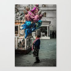 Gypsy with balloons Canvas Print
