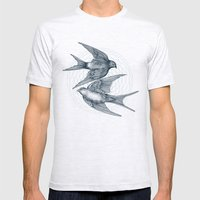 Two Swallows Mens Fitted Tee Ash Grey SMALL