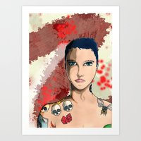 Tattoo Kid Art Print