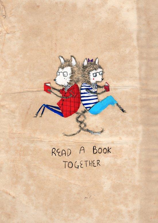 Read a book together Art Print