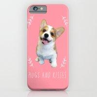 iPhone & iPod Case featuring Corgi Hugs and kisses by Geordi the corgi