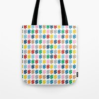 Colourful Money Repeat Tote Bag