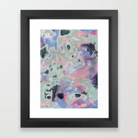 Plastic Pastel Nature Framed Art Print