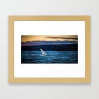 a great way to end the day Framed Art Print
