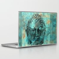buddha Laptop & iPad Skins featuring Buddha by woman