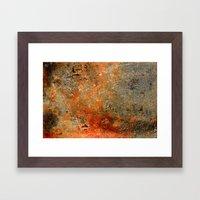 Rust Texture 70 Framed Art Print