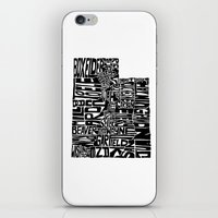 Typographic Utah iPhone & iPod Skin