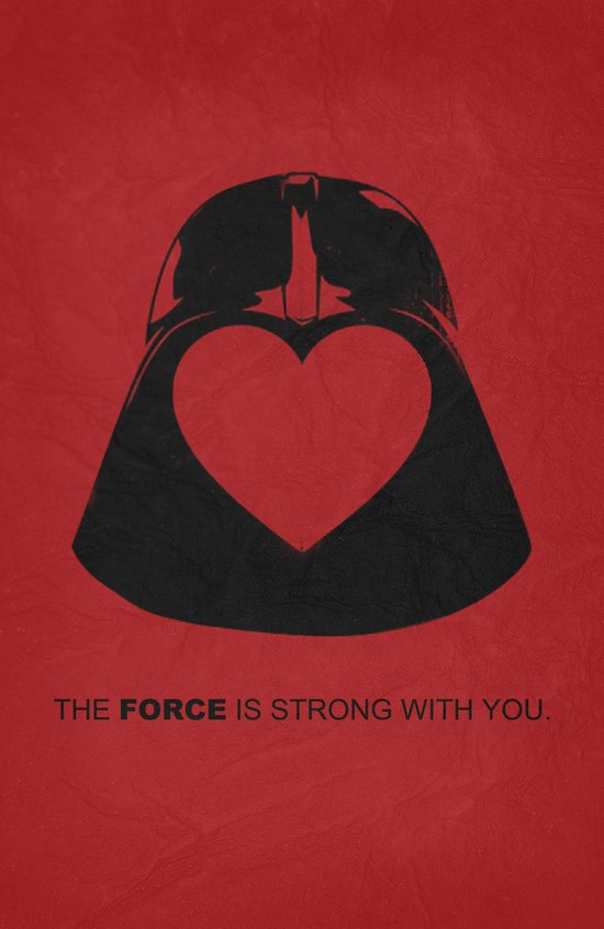 Star Wars - Valentine Poster Canvas Print