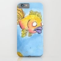 iPhone & iPod Case featuring Something Fishy by mendydraws