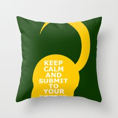 Keep Calm and Submit Throw Pillow