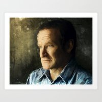Tribute Robin Williams Art Print