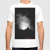 Coming Out Of The Darkne… Mens Fitted Tee White SMALL