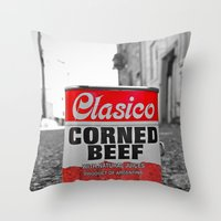 Classic corned beef Throw Pillow