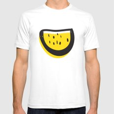 Watermelon Addiction Mens Fitted Tee White SMALL