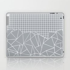 Abstract Outline Grid Grey Laptop & iPad Skin