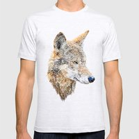 Wolf Head 2 Mens Fitted Tee Ash Grey SMALL