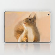 Squirrel, oil and chalk painted squirrel Laptop & iPad Skin