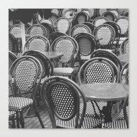 Chairs Under The Rain Canvas Print