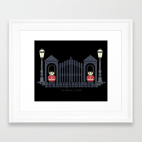 The Queen Is Dead Framed Art Print
