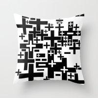 PLUS/MINUS Throw Pillow