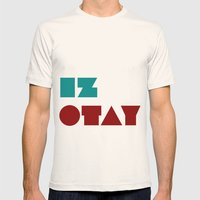 Iz Otay Mens Fitted Tee Natural SMALL