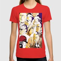 Faces Womens Fitted Tee Red SMALL