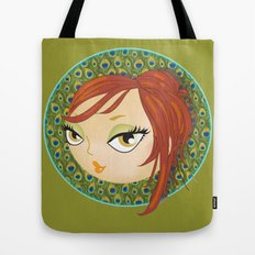 Ms Peacock Tote Bag