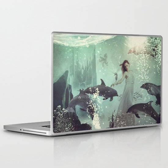 The Sea Unicorn Lady Laptop & iPad Skin