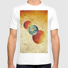 Take me to the moons and back SMALL Mens Fitted Tee White