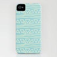 Blue Scribbles 05 iPhone (4, 4s) Slim Case