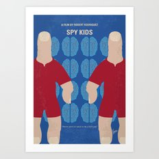 No681 My Spy Kids minimal movie poster Art Print