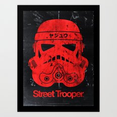 BEAST Street Trooper Head (Vintage Teal) Art Print