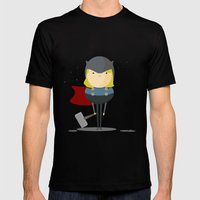 My Handy Hero! Mens Fitted Tee Black SMALL