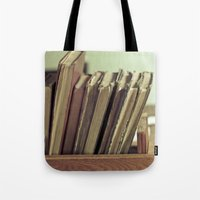 Retro Books Tote Bag