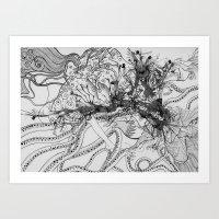 Magic Force / Original A4 Illustration / Pen & Ink Art Print