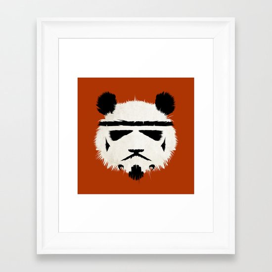 Panda Trooper Framed Art Print