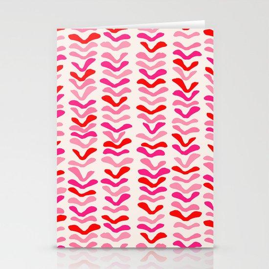 Rhythm Pink Stationery Card