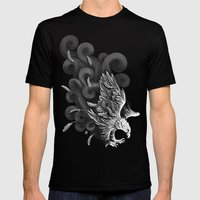 Windy Wings Mens Fitted Tee Black SMALL