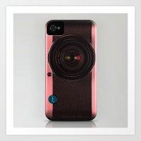 Vintage Camera III - Ros… Art Print