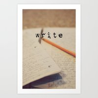 Write Art Print