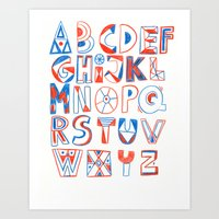 PlayFull Alphabet Art Print