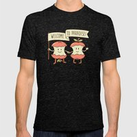 Welcome To Paradise Mens Fitted Tee Tri-Black SMALL