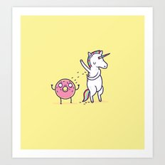How donuts get sprinkles Art Print