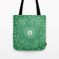 Christmas Tree Mandala Tote Bag