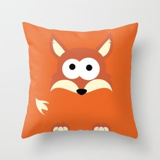 Minimal Fox Throw Pillow