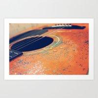 Teardrops On My Guitar Art Print