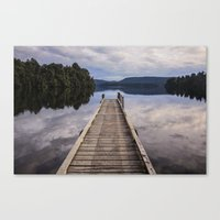 Mapourika Lake Canvas Print
