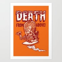 Death From Above (orange) Art Print