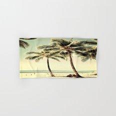 Retro Vintage Palm Tree with Hawaii Summer Sea Beach Hand & Bath Towel