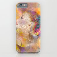profile woman and flowers iPhone 6 Slim Case